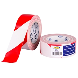 HPX Safety textile tape - wit/rood 48mm x 25m